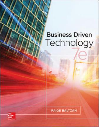 Solution Manual for Business Driven Technology 7th Edition Baltzan