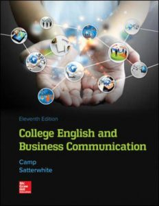 Test Bank for College English and Business Communication 11th Edition Camp