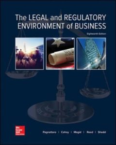 Test Bank for The Legal and Regulatory Environment of Business 18th Edition Pagnattaro