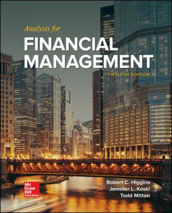 Test Bank for Analysis for Financial Management 12th Edition Higgins