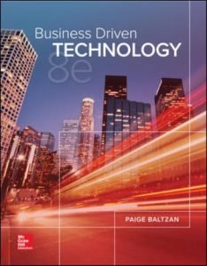 Test Bank for Business Driven Technology 8th Edition Baltzan