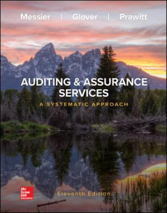 Test Bank for Auditing & Assurance Services: A Systematic Approach 11th Edition Messier Jr
