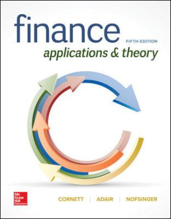 Test Bank for Finance: Applications and Theory 5th Edition Cornett