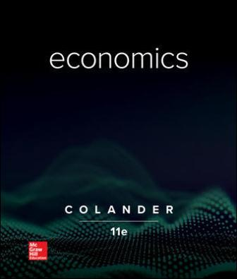 Solution Manual for Economics 11th Edition Colander