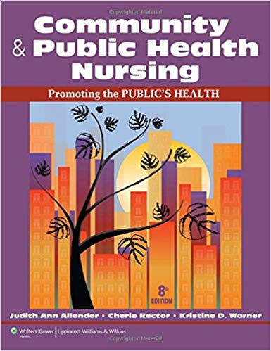 Test Bank for Community and Public Health Nursing 8th North American Edition Allender
