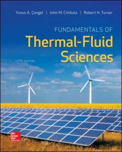Solution Manual for Fundamentals of Thermal-Fluid Sciences 5th Edition Cengel