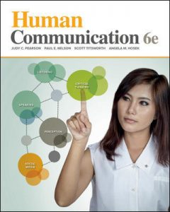 Test Bank for Human Communication 6th Edition Pearson