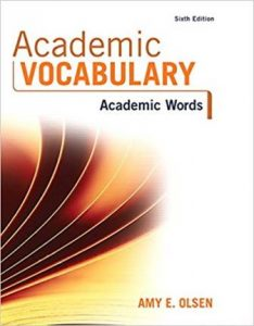 Test Bank for Academic Vocabulary: Academic Words 6th Edition Olsen