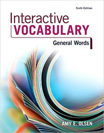 Test Bank for Interactive Vocabulary 6th Edition Olson