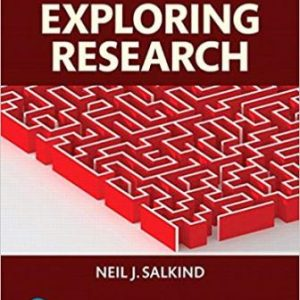 Test Bank for Exploring Research 9th Edition Salkind