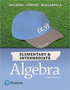 Solution Manual for Elementary & Intermediate Algebra 4th Edition Sullivan