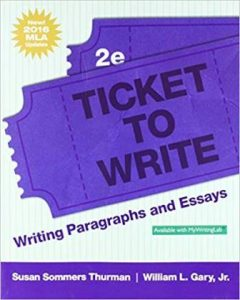 Test Bank for Ticket to Write Writing Paragraphs and Essays 2nd Edition Thurman