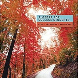 Test Bank for Algebra for College Students 9th Edition Lial