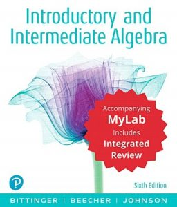 Test Bank for Introductory and Intermediate Algebra with Integrated Review 6th Edition Bittinger