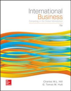 Solution Manual for International Business: Competing in the Global Marketplace 11th Edition W. L. Hill