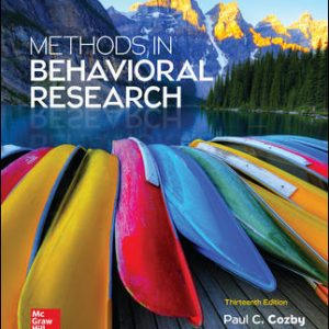 Test Bank for Methods in Behavioral Research 13th Edition Cozby