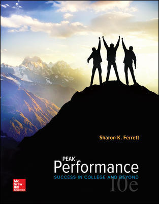Test Bank for Peak Performance: Success in College and Beyond 10th Edition Ferrett