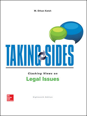 Test Bank for Taking Sides: Clashing Views on Legal Issues 18th Edition Katsh