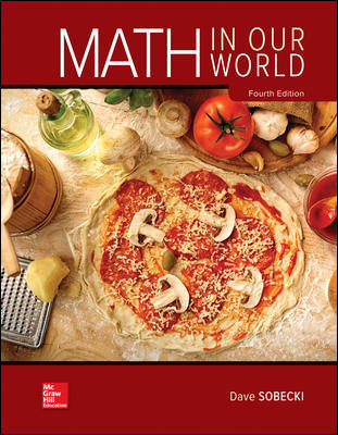 Test Bank for Math in Our World 4th Edition Sobecki