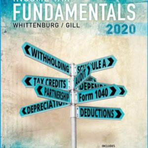 Test Bank for Income Tax Fundamentals 38th Edition by Whittenburg