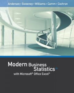 Test Bank for Modern Business Statistics with Microsoft Excel 6th Edition Anderson