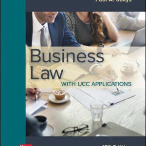 Solution Manual for Business Law with UCC Applications 15th Edition Sukys