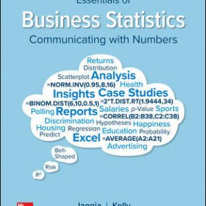 Solution Manual for Essentials of Business Statistics 2nd Edition Jaggia