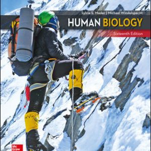 Solution Manual for Human Biology 16th Edition Mader