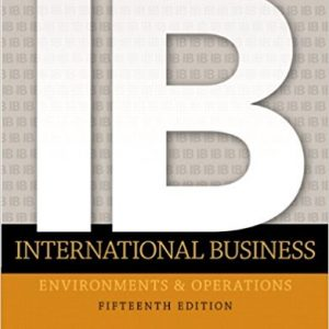 Test Bank for International Business 15th Edition Daniels