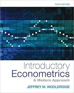 Test Bank for Introductory Econometrics A Modern Approach 6th Edition Wooldridge