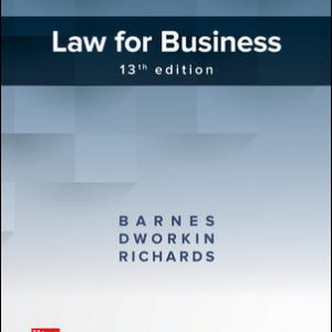 Test Bank for Law for Business 13th Edition Barnes