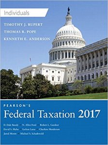 Test Bank for Pearson's Federal Taxation 2017 Individuals 30th Edition Pope