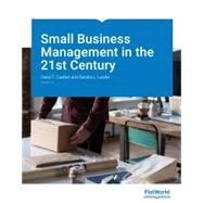 Test Bank for Small Business Management in the 21st Century, Version 1.0 1st Edition Cadden