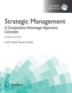 Test Bank for Strategic Management A Competitive Advantage Approach, Concepts Global Edition 16th Edition David