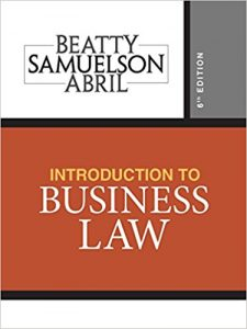 Test Bank for Introduction to Business Law 6th Edition Beatty