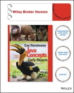 Test Bank for Java Concepts: Early Objects 8th Edition Horstmann