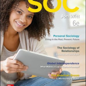 Solution Manual for SOC 2020 6th Edition Witt
