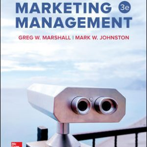 Test Bank for Marketing Management 3rd Edition Marshall