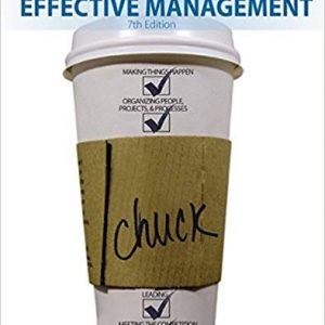 Test Bank for Effective Management 7th Edition Williams