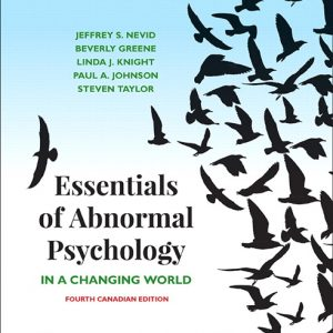 Test Bank for Essentials of Abnormal Psychology Canadian 4th Edition Nevid
