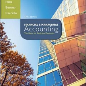 Test Bank for Financial & Managerial Accounting 17th Edition Williams