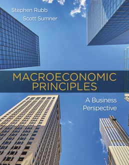 Test Bank for Macroeconomic Principles: A Business Perspective 1st Edition Rubb