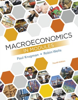 Test Bank for Macroeconomics in Modules 4th Edition Krugman