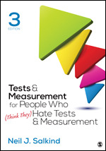 Test Bank for Tests & Measurement for People Who (Think They) Hate Tests & Measurement 3rd Edition Salkind
