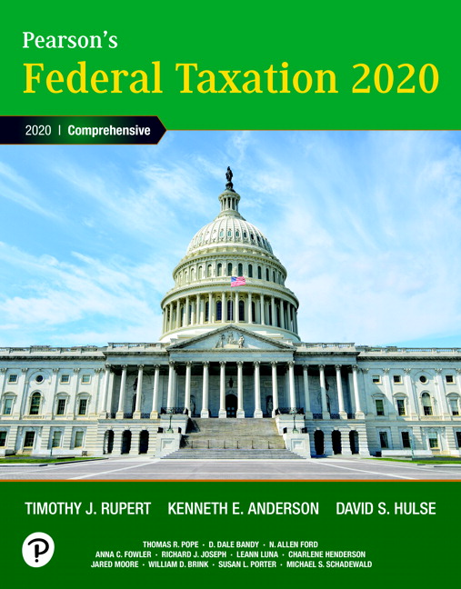 Test Bank for Pearson's Federal Taxation 2020 Corporations Partnerships Estates and Trusts 33rd Edition Rupert
