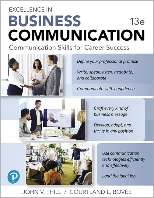 Test Bank for Excellence in Business Communication 13th Edition Thill