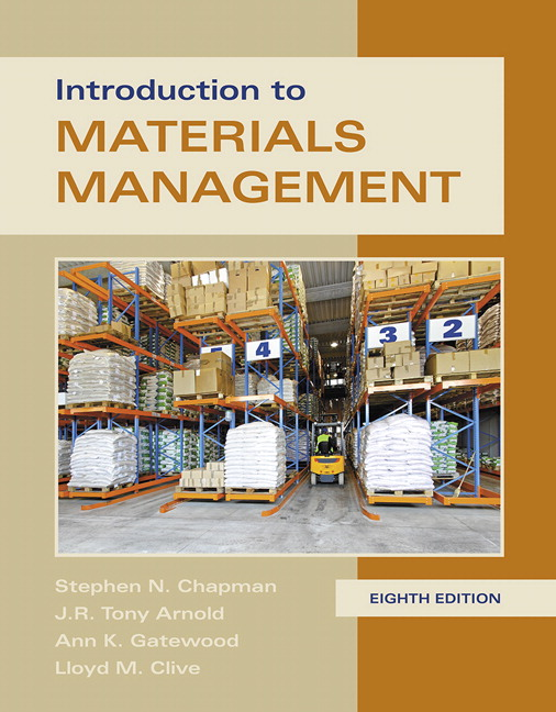 Test Bank for Introduction to Materials Management 8th Edition Chapman