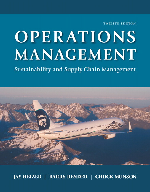 Test Bank for Operations Management: Sustainability and Supply Chain Management 12th Edition Heizer